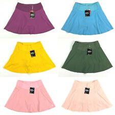Puma PWRSHAPE Solid Woven Golf Skirt Purple Yellow Blue Womens SZ S ( 595853 )