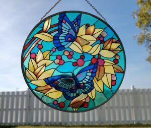 "Hand Painted Joan Baker Designs Butterfly Suncatcher, 6 3/4"""