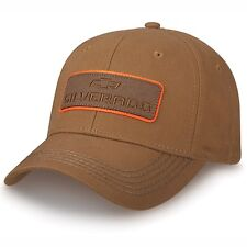 Chevrolet Chevy Silverado Brown Cotton Canvas Embroidered Hat Licensed