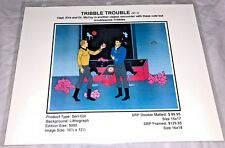 Rare Star Trek Laminated Cel Promo Binder Page Tribble Trouble