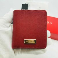 NWT Furla Women's Short Folding Wallet Red Small  PT87