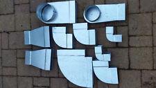 Flachkanal Stahl verzinkt Bogen KONVOLUT 10 Teile