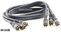 3ft. High Quality Python® Composite Audio /Video RCA Interconnects Cable AV-503B