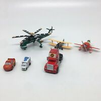 Lot of 6 Disney Pixar Planes & Cars Fire & Rescue Helicopter Piston Peak + Other