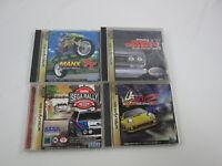 4 games Manx TT Over Drivin SET Sega Saturn Japan Ver Segasaturn