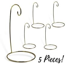 Christmas Ornament Stand - Set of 5 Gold Metal Wire Ornament Stands - Display...