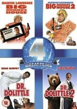 Big Momma's House 1-2 / Dr. Dolittle 1-2 (DVD 4 Film Set) New/Sealed,FREE-MAIL.
