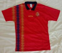 1994 Spain retro vintage classic soccer football team home t-shirt jersey tw