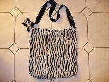 Shopping Tragetasche Umhängetasche Tasche ~ Wild Nici Zebra Muster schwarz weiß