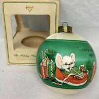 Hallmark Ornament The Night Before Christmas 1980 Holiday House Vintage Box RARE