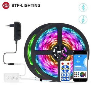 WS2811 LED Strip Light Set Bluetooth Music APP Control RGB Flexible Multicolor