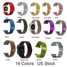 For Apple Watch Series 5 4 3 2 Magnetic Milaese Stainless Steel Wrist Band