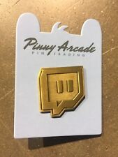 EXCLUSIVE Golden Twitch Glitch PAX East 2018 Pinny Arcade Pin Logo Gold