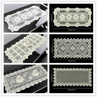 Vintage Lace Table Runner Mats Doilies Wedding Party Home Decor Floral 40x80cm