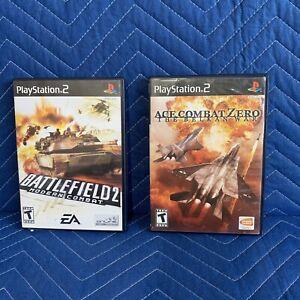 PS2 Ace Combat Zero The Belkan War video game Battlefield 2 Playstation complete