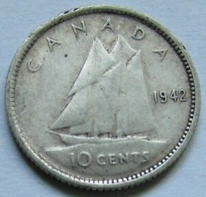 Canada - 10 cents 1942 en argent