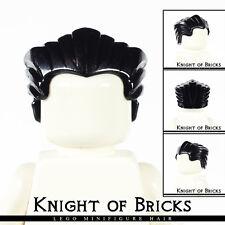 Lego Minifigure Hair Black 64798 Male Boy Hair Swept Back with Widow's Peak