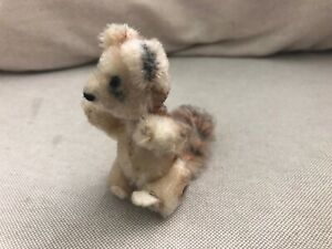 """Vintage SCHUCO Miniature 4"""" Mohair Jointed Squirrel"""