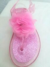 """GIRLS - TODDLER """"SPECIAL"""" """"MOST SIZE'S"""" """"PINK or CLEAR"""" PREMIUM-DESIGNED SANDALS"""