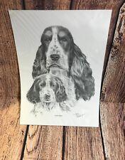 Cocker Spaniel  Drawing Print A4 Size