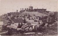 El Puy De Dome El Templo de Mercurio Vintage Albúmina Aprox 1880