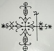 Voudou vodun voodoo Papa Legba magic veve black vinyl decal sticker