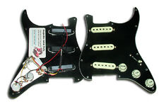 Dragonfire Prewired-Loaded Strat Pickguard SSS, 3 Ply Black with Mint