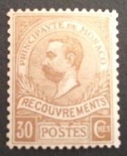 timbre Taxe monaco , n°10, xx, BC, cote 650e signe Calves