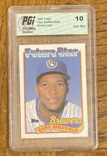 1989 Topps Gary Sheffield Milwaukee Brewers #343 Baseball Card PGI Gem MT 10