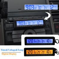Car Digital LCD Backlight Thermometer Time Clock Calendar Voltmeter Meter Gauge