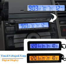 Car Digital LCD Backlight Thermometer Time Clock Calendar Voltmeter Meter Gauge