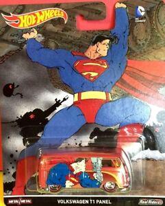 HOT WHEELS SUPERMAN VOLKSWAGEN T1 PANEL VAN KOMBI REDLINE TYRES DIECAST 1/64