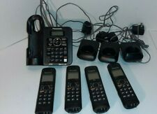 Panasonic KX-TG6644B DECT 6.0 Cordless Phone Answering System Black 4 Handsets
