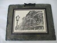 Vintage Don Davey Sketched Print of French Quarter Lace on Black Slate
