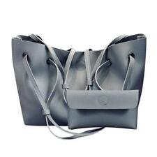 2PCS Women's Leather Handbag Lady Shoulder Bags Tote Purse Messenger Satchel Set