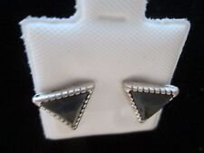 with Black Stone in Gift Box New Park Lane Silver Post Style Earrings
