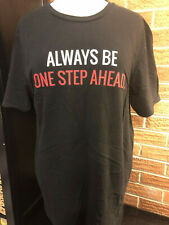 Jack Reacher Never Go Back Black T-shirt Large Always be One Step Ahead Promo
