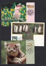 More details for australia & aat twenty four maximum maxi postcards wildlife wild animals birds
