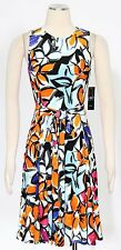 Lauren by Ralph Lauren Multi Shift Dress Size 12 Floral Belted Women's New*