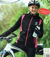 Damen Softshelljacke Jacke mit reflektierenden Elementen Fahrradjacke Öko-Tex