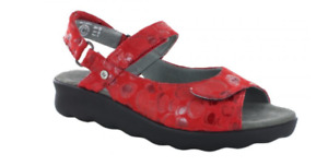 Wolky Pichu Circles Red Comfort Ankle Strap Sandal Women's sizes 36-42/5-11NEW