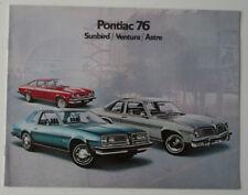 PONTIAC SUNBIRD VENTURA 1976 dealer brochure - French - Canada - ST1002000418