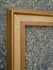 Vintage+Mid+Century+Modern+Rattan+Weave+%26+Wood+Picture+Art+Frame+fits+21%22+x+17%22