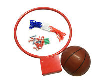 Basketball Ring Hoop, Net and Ball Set With Wall Fixings Outdoor Garden Game 326