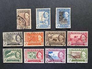 Malaya Selangor 1957 Definitive complete Used set