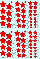 KV Decals 1/48 SOVIET EARLY RED STARS TYPE 4 Russian National Markings