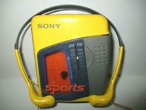 Sony Walkman WM-FS397 Sports FM/AM Stereo Cassette - Yellow Works