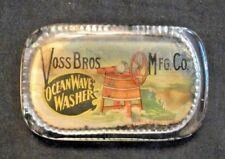 Vintage OCEAN WAVE WASHER glass paperweight VOSS BROS.MFG CO. DAVENPORT, IA