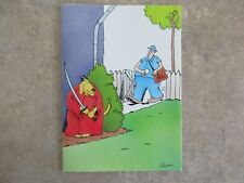 """Vintage """"The FAR SIDE"""" 1982 Greeting Card """"Dog With Sword Waits For Mailman"""""""