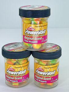 Berkley PowerBait Floating Trout Nuggets Rainbow BPNRB 1.1 oz (30 g) Lot Of 3